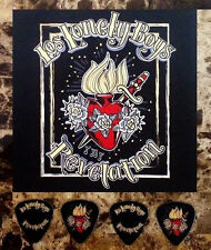 Los Lonley Boys Revelation Ltd Ed Rare Guitar Picks & Postcard +Free Stickers!
