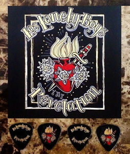 LOS LONLEY BOYS Revelation Ltd Ed RARE Guitar Picks & Postcard +FREE Stickers!