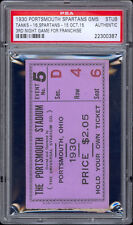 1930 Portsmouth Spartans ticket for game #5 (First Year in NFL) -- PSA Graded.