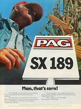 1980 Print Ad of PAG SX 189 Hybrid Corn Seed