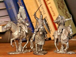 Tin Soldier Russian Cavalry Bogatyrs Handmade High Level Details 1/32 Scale 54mm