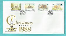 Jersey CI Channel Islands First Day Cover FDC 1988 Christmas Church Winter Scene