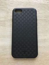 GUCCI iPhone 7/GUSCIO IN SILICONE CASE NERA BLACK gg monogramma