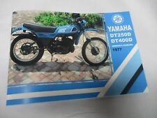 Yamaha DT250  DT400   owners manual 1977   DT250D DT400D