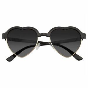 SUNGLASSES Womens Retro Cute Vintage Half Frame Inspired Heart Shape Sunglasses