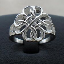 925 Sterling Silver Celtic Infinity Eternity Ring Size 7 Love Ban Hallmarked New