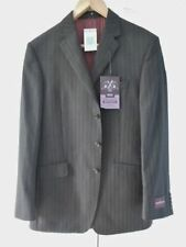 Pinstripe Three Button Suit Jackets for Men