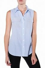 Equipment Femme S/L Slim Signature With Contrast Striped Top Size L