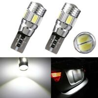 2x T10 W5W 194 158 5630-SMD LED White Bulb Car Rear Parking License Plate Light