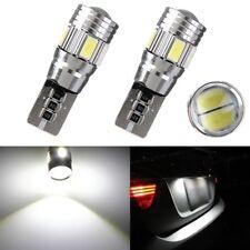 2x T10 W5W 194 158 5630-SMD LED White Bulb Car Rear Parking License Plate Light