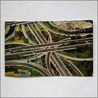 Los Angeles Dig These Freeways 1976 Postcard (P415)