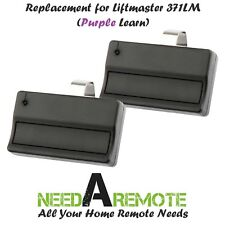 2 For Sears Craftsman 139.53753 1button Garage Door Opener Remote 315mhz Purple