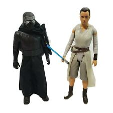 "Jakks Star Wars Kylo Ren & Rey 18"" Action Figures Force Awakens 2015"
