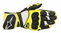 GUANTI MOTO ALPINESTARS GLOVES SP-1 V2 BLACK WHITE YELLOW FLUO PROTEZIONI CE