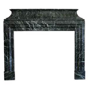 Antique French Jules Cantini Vert de Mer Marble Fireplace 19th Century