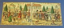 Old c.1900 Antique - French Game PRINT - Village Musicians / Dancers - DICE