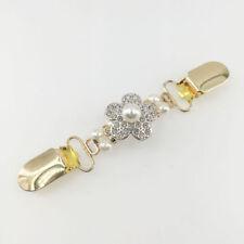 Jewellery Clothing Clasp Collar Stylish * Pearl & Flower Cardigan Clip Fashion