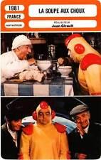 FICHE CINEMA : LA SOUPE AUX CHOUX - De Funès,Carmet,Villeret,Girault 1981