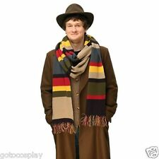 Dr Doctor Who Fourth 4th 12' Tom Baker Striped 100% Acrylic DELUXE Warm Scarf