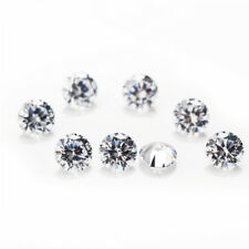 Lots Natural White Round Cut Loose Zircon Bead Stones Crystal Gemstone 1/1.5/2mm