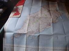 ISLE OF MAN:POST WAR ORDNANCE MAP-IST ED,1963 TT MOTORCYCLE RACE TRACK MARKED