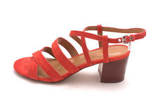 Coach Womens Terri Leather Open Toe Casual Strappy Sandals, Deep Coral, Size 8.5