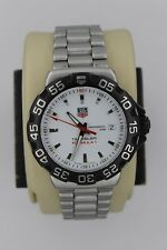Tag Heuer WAH1111.BA0850 Formula One 1 Watch Men WHITE SS $1500 Mint Crystal