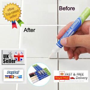 Grout Pen Anti-Mould tile Repair Revive Kitchen,Bathroom,Shower  White & Colours