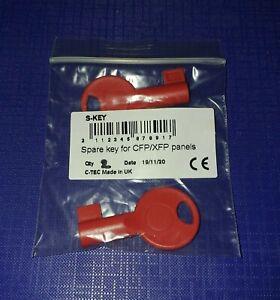 C-TEC Fire Alarm Control Panel Key PACK OF 2 Spare Key CTEC CFP C-TEC XFP S-KEY