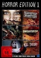 3 Horrorfilme Babysitter Wanted & Kill Theory & Sweatshop u.a Bill Moseley NEU