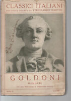 MEMORIE VOLUME II Goldoni,  PRIMI 900,  Istituto Editoriale Italiano Milano