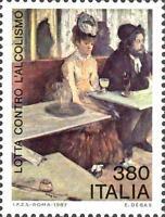 # ITALIA ITALY - 1987 - E.Degas - L'absinthe - Art Painting Food - Stamp MNH