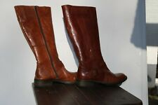 Brown Leather boots. 3cm Heels. Size EU 39