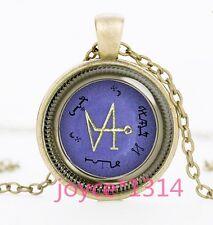 Michael Raphael Uriel angel sigils bronze Glass Chain Pendant Necklace #1195