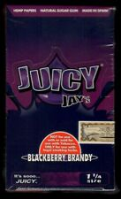 Juicy Jay's BLACKBERRY BRANDY Flavored 1 1/4 Hemp Rolling Papers BOX/24 PACKS