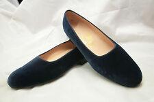 Increíble Bespoke John Lobb Zapatilla Casa De Terciopelo Azul/Zapatos De Baño Uk 9 RRP £ 2000+