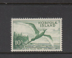 Norfolk Island 1960 10/- Bird Red tailed Tropic Bird Fine MNH
