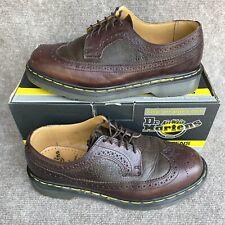 Dr Martens Docs Mens Brown Brogue Wingtip Bex Leather 3989/59 England UK 9 US 10