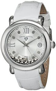 Swiss Legend Women's Diamond Quartz Watch Silver Stainless Steel Case 22388-02S