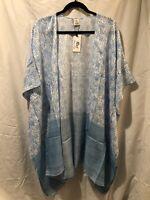 RAJ IMPORTS Kimono/Coverup Cotton Blue/turquoise/Floral/ Solid/Print One Size
