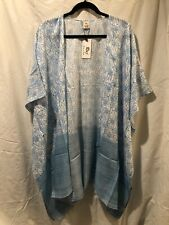 RAJ IMPORTS Kimono/Coverup Cotton Blue/turquoise/Floral/ Solid/Print One Size