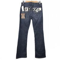 CELLO Womens Dark Wash Denim Zebra Pocket Bootcut Jeans Size 29