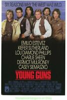 YOUNG GUNS MOVIE POSTER 27x41 Original Rolled CHARLIE SHEEN N. MINT 1989 Western