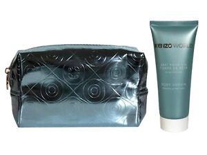 Set of 2 Kenzo World Blue Make Up Bag & Body Lotion 75ml Women