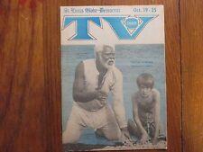Oct. 19, 1974 St. Louis Globe-Democrat TV Digest(JAMES EARL JONES/ALFRED LUTTER)