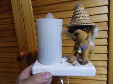 Lampe veilleuse Kitsch Vintage lamp Années 60's Pieter Klick deco Chien dog