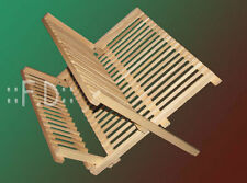 BATTERIA DISH DRAINER-in legno Asciugatrice Cena Piastre Rack Stand Vassoio da cucina