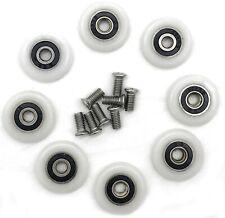 8 x Rulli per porta box doccia, Ruote da 23 mm, Rotelle in nylon con cuscinetti