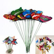 10 Pcs Metal  Butterfly Home Garden Decoration Outdoor Lawn Patio Art Ornaments