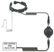 ICOM HEAVY DUTY THROAT MIC & COVERT EARPIECE - IC-F12 F22 F22SR F3GS F4GS ETC